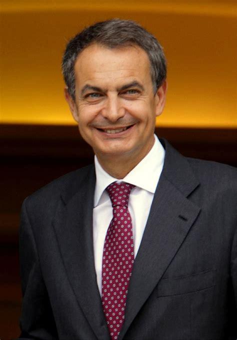 El presidente José Luis Rodríguez Zapatero  n. 1960; r ...