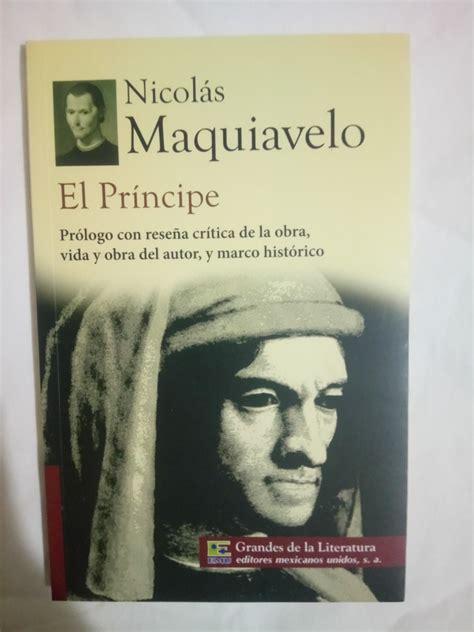 El Príncipe De Nicolás Maquiavelo Libro Original Usado ...