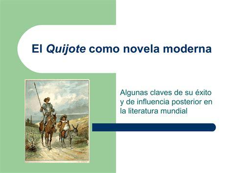 El Quijote como novela moderna
