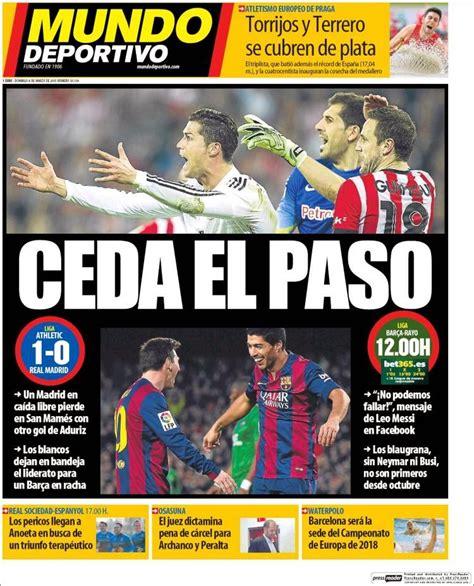 El Real Madrid en caída libre, hoy Barça puede ser líder ...