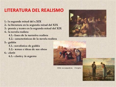 El Realismo: marco histórico y cultural. Características ...