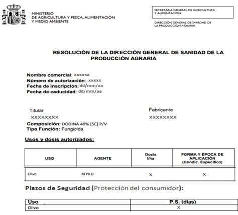 El Registro Oficial de Productos Fitosanitarios  ROPF ...