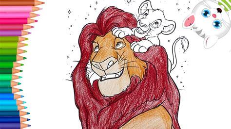El Rey León   Dibujos para Colorear   Dibujos para Pintar ...