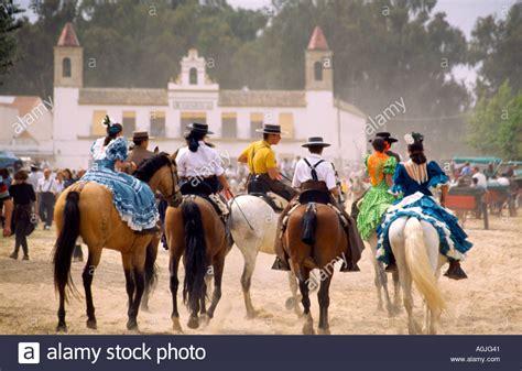 El Rocio Festival, Romeria with Horses, Andalucia, Spain ...