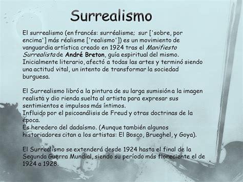 El surrealismo.   ppt descargar