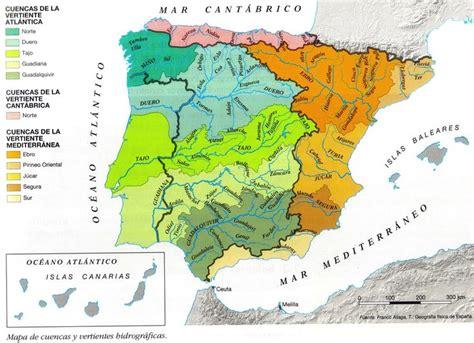 El territorio español esta bañado por tres cuencas o ...