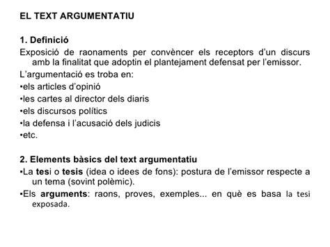 El text argumentatiu