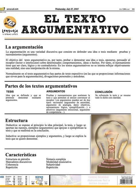 El texto argumentativo   lenguaje y otras luces