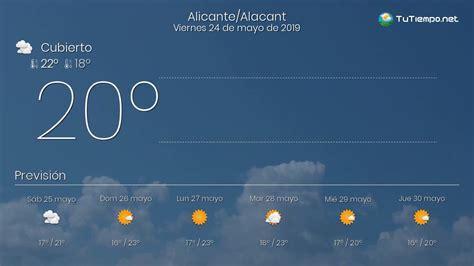 El tiempo en Alicante/Alacant. Viernes 24 de mayo de 2019 ...