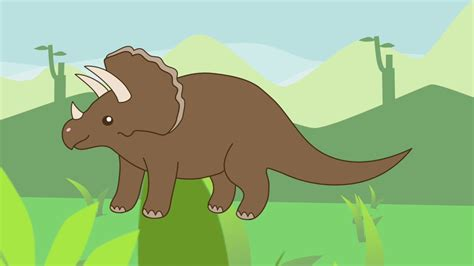 El Triceratops   Los dinosaurios para niños   YouTube