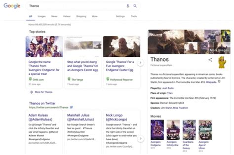 El truco de Google para que Thanos acabe con la mitad de ...