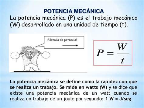 EL UNIVERSO DE LA FÍSICA : Potencia Mecanica