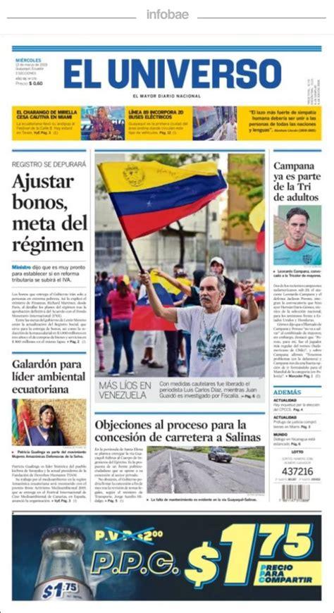 El Universo, Ecuador, Miércoles 13 de marzo de 2019 ...