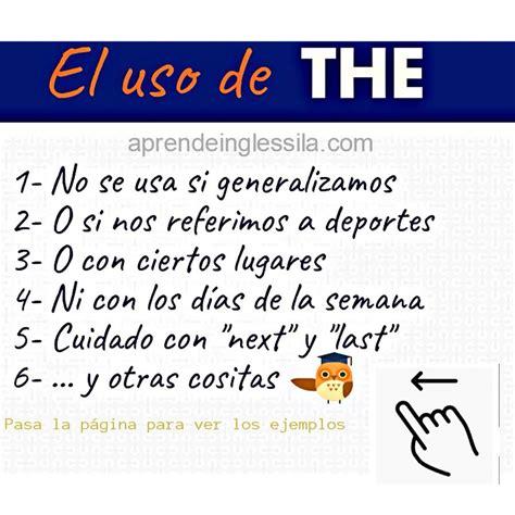 """El uso de """"THE"""" en #inglés  Algunas situaciones y ..."""