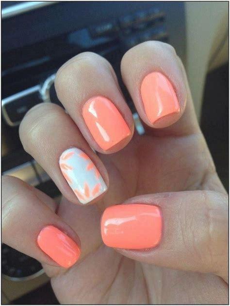 El Verano De Uñas Uñas Coral | Cute gel nails, Summer gel ...