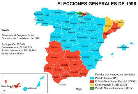 Elecciones generales de España de 1996   Wikipedia, la ...