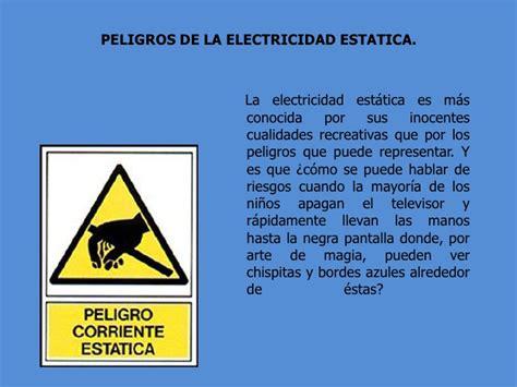 Electricidad estatica