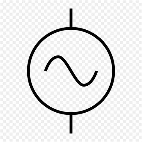 Electrónica símbolo de corriente Alterna de la fuente de ...