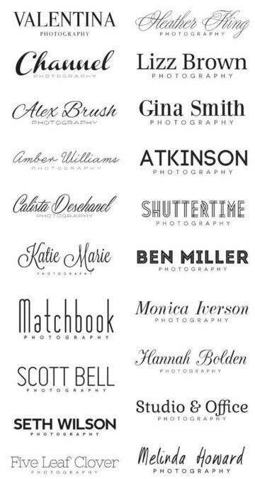 Elegir las fuentes de letras para logos una tarea ...