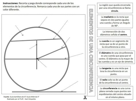 Elementos De La Circunferencia | Material Educativo