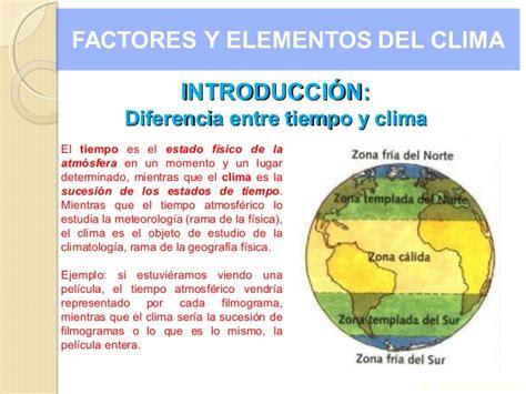 Elementos factores clima