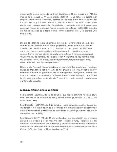 ELEMENTOS PARA EL DEBATE SOBRE UNA LETRA PARA EL HIMNO ...
