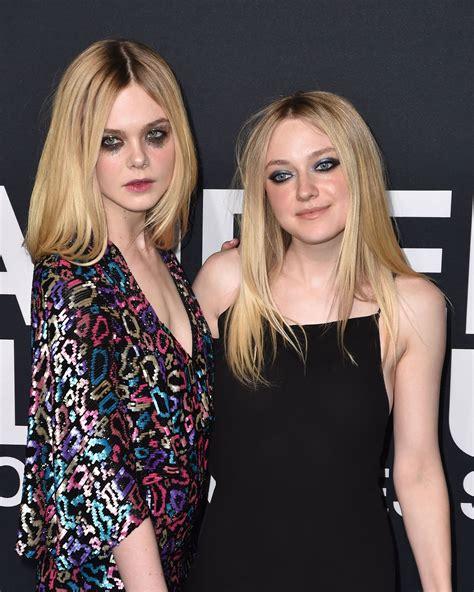 Elle and Dakota Fanning Wear Glitter Eye Makeup at the ...
