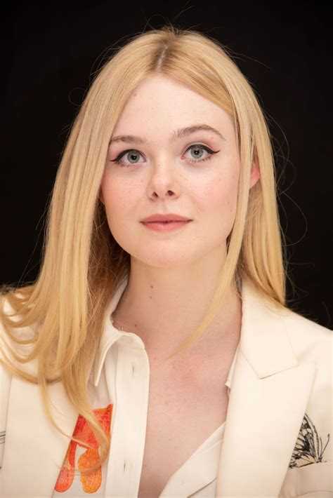 ELLE FANNING at Teen Spirit Press Conference in Beverly ...