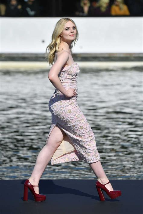 Elle Fanning Attends the L'Oreal Fashion Show During the ...
