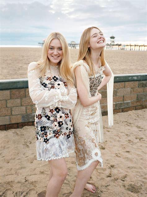 Elle Fanning & Dakota Fanning   Photoshoot for Vogue March ...