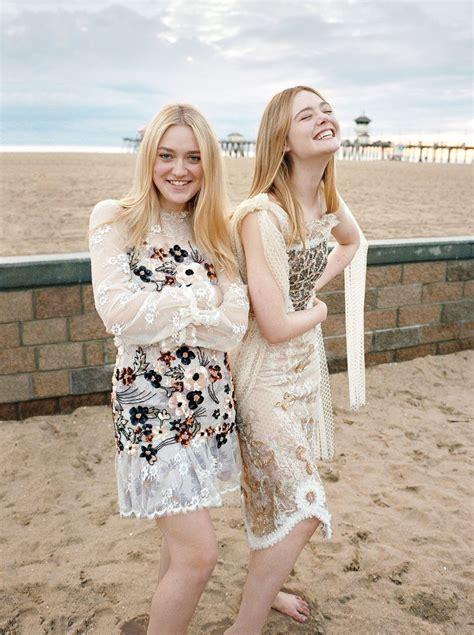 Elle Fanning & Dakota Fanning – Photoshoot for Vogue March ...