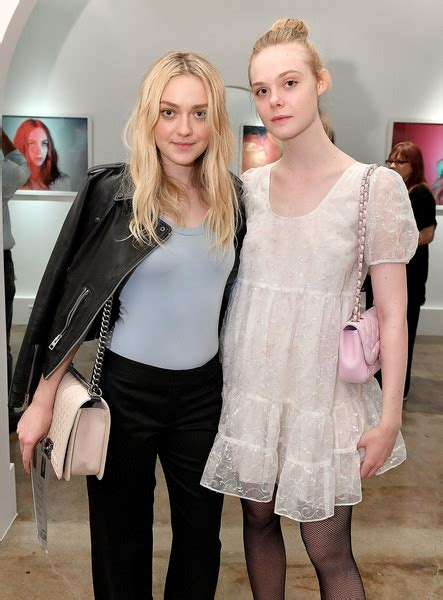 Elle Fanning goes on LA Walk with her Grand Mother and Dog ...