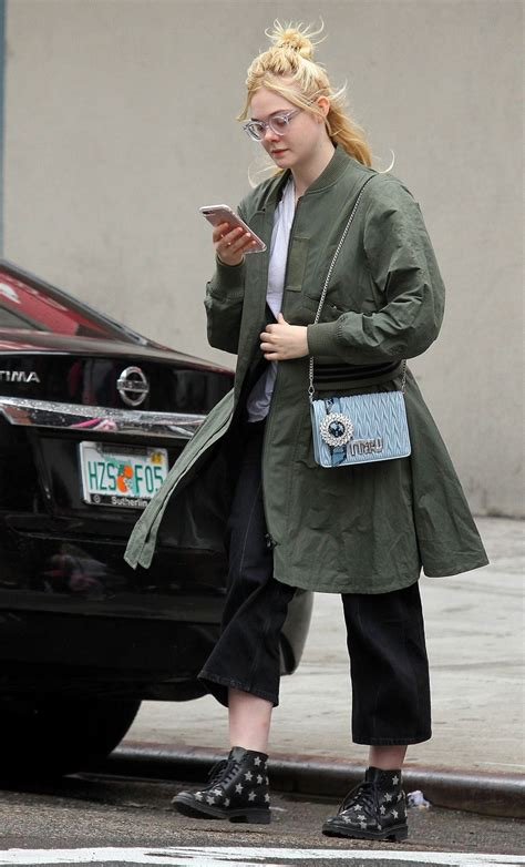 ELLE FANNING Heading to Her Home in New York 09/03/2017 ...