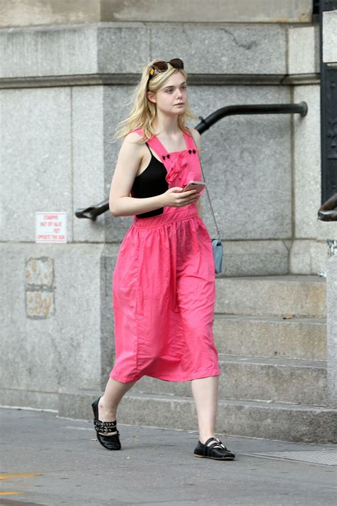 ELLE FANNING Heading to Her Home in New York 09/04/2017 ...