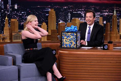 Elle Fanning in Alexander McQueen on  The Tonight Show ...