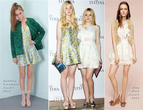 Elle Fanning In Opening Ceremony & Dakota Fanning In Nina ...