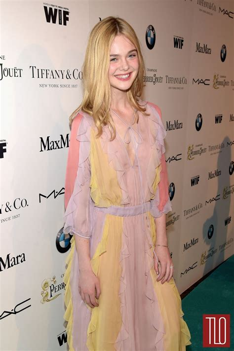 Elle Fanning in Valentino at the Women in Film Pre Oscar ...