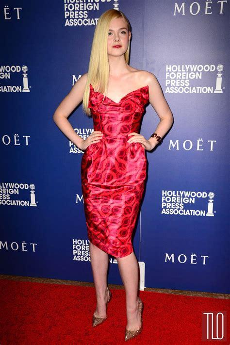 Elle Fanning in Vivienne Westwood at the 2014 HFPA Grants ...