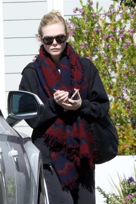 ELLE FANNING Leaves Her House in Los Angeles 02/23/2018 ...