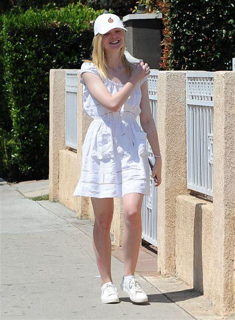 ELLE FANNING Leaves Her House in Los Angeles 08/29/2016 ...