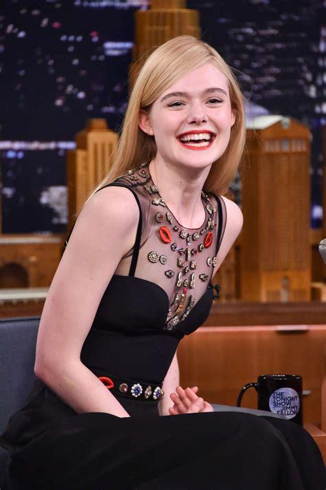Elle Fanning on 'The Tonight Show Starring Jimmy Fallon ...