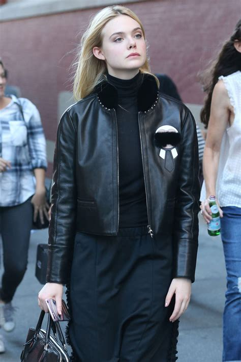 Elle Fanning Out and About in NYC | Tom + Lorenzo
