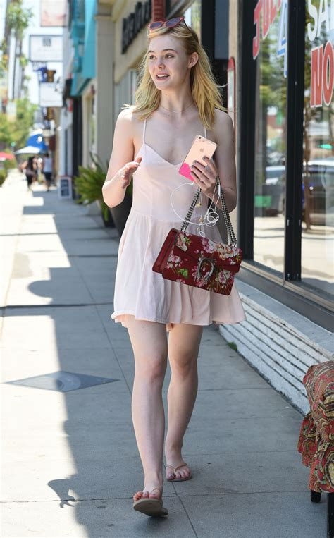 Elle Fanning Summer Style   Out in Los Angeles 6/25/2016