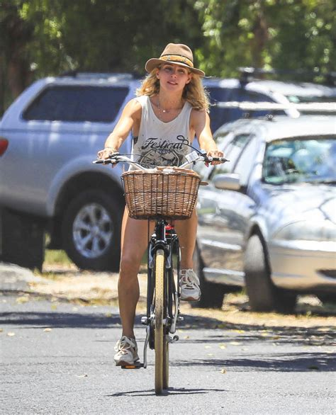Elsa Pataky   Riding Her Bicycle in Byron Bay 01/08/2019
