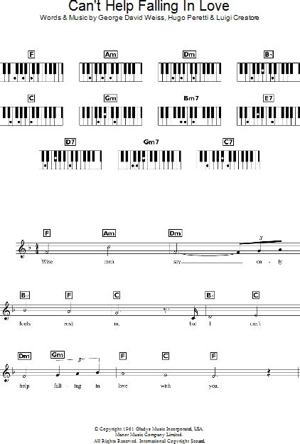 Elvis can t help falling in love chords   SHIKAKUTORU.INFO
