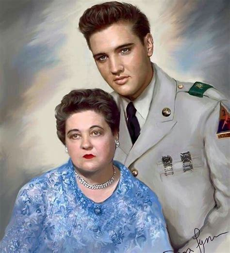 Elvis with his mom