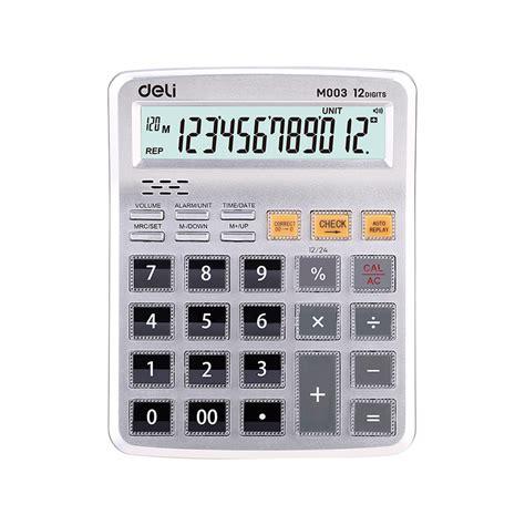 EM00310 Voice Calculator 12 digit English   Deli