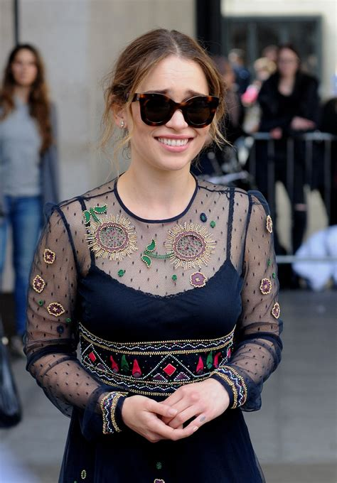 EMILIA CLARKE at BBC Radio 1 Studios in London 05/26/2016 ...