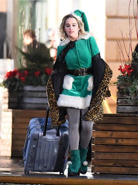 Emilia Clarke   Filming  Last Christmas  in London 12/04 ...