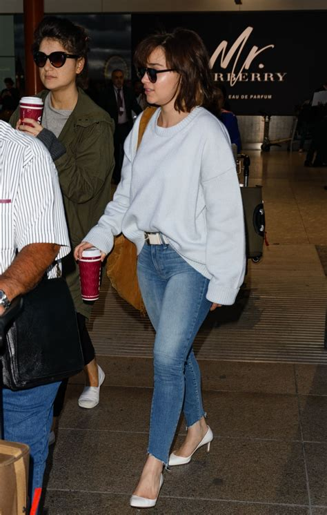 Emilia Clarke Spotted arriving at Heathrow Airport in ...